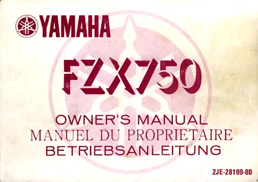 Owners FZX750